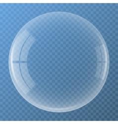 Bubble with glare icon vector