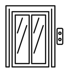 Button elevator icon outline style vector