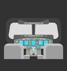 cartoon pilots cockpit empty template concept vector image