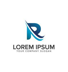 Cative modern letter r logo design concept vector