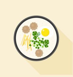 Chinese porridge rice vector