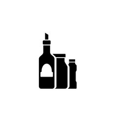 cosmetics bottles flat icon vector image
