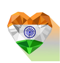 Crystal flag of republic of india vector