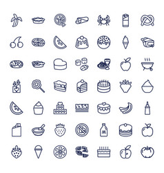 Delicious icons vector