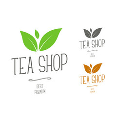 design logos for a tea shop or a brand company vector image
