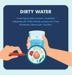 Dirty water poster template with text space vector