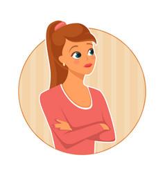Dissatisfied woman vector