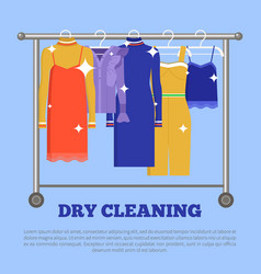Dry cleaning clothing poster vector