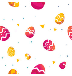 easter decorative eggs pattern seamless vector image