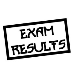 Exam results stamp on white vector
