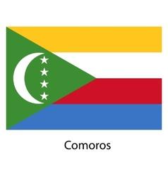 Flag of the country comoros vector