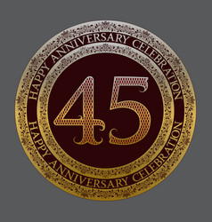 forty fifth anniversary celebration logo symbol vector image
