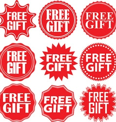 Free gift red label Free gift red sign Free gift vector image