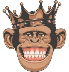 Funny monkey crown vector image