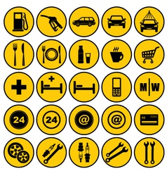 Gas station icons vector