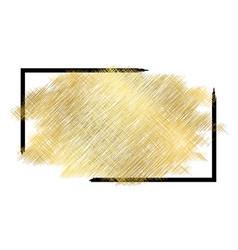 Gold metall texture black frame golden color vector