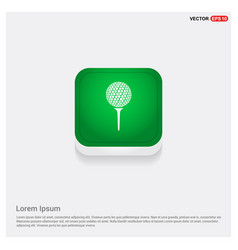 Golf crossed tees icon vector