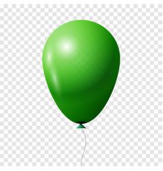 green transparent balloon vector image