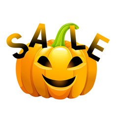halloween pumpkin sale vector image