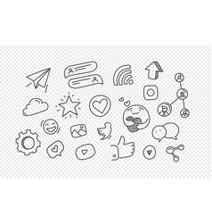 Hand drawn doodle style elements isolated on vector