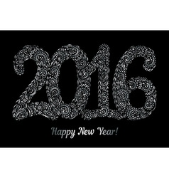 Happy New Year 2016 celebration background vector image