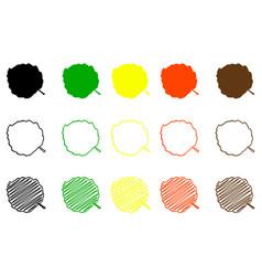 Hazel leaf color set vector