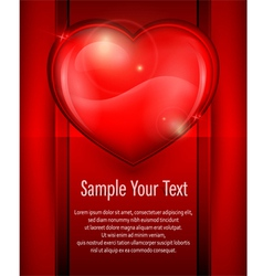 heart red card 10 v vector image