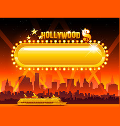 Hollywood background vector