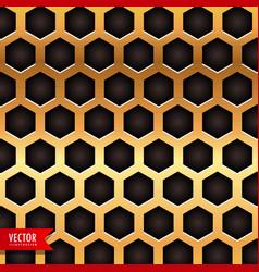 Honeycomb pattern in golden color vector