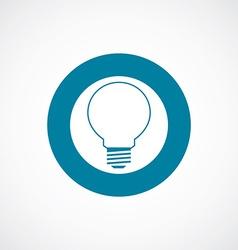 Idea icon bold blue circle border vector