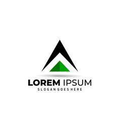 Letter a - logo design element vector