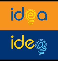 light bulb make idea text concept vector image