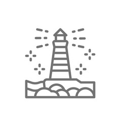 lighthouse fisgard victoria canada line icon vector image