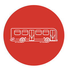 Line art style bus icon vector