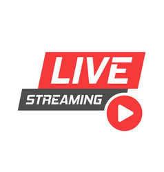 Live video icon in flat style streaming tv on vector