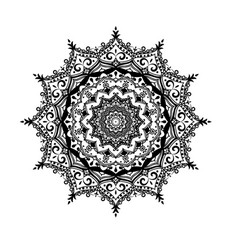 modern decorative floral color mandala vector image