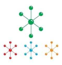 Molecule sign Colorfull set vector image