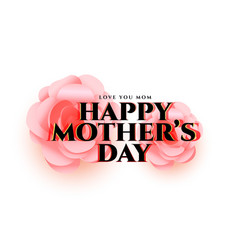 mothers day flower greeting card design vector image