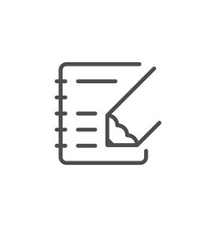Note writing line outline icon vector