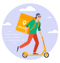 Online delivery service concept vector