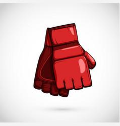 Pair mma gloves mix martial arts equipment vector