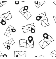 Pin on the map seamless pattern background vector
