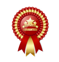 Premium quality rosette placed on white background vector