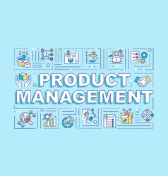 Product management word concepts banner vector