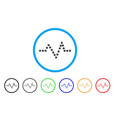 pulse chart rounded icon vector image
