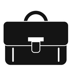 Recruiter briefcase icon simple style vector