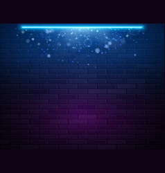 retro abstract blue and purple neon lights vector image