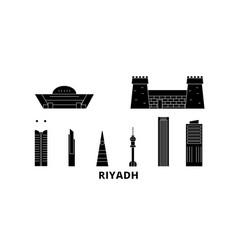 Saudi arabia riyadh flat travel skyline set vector