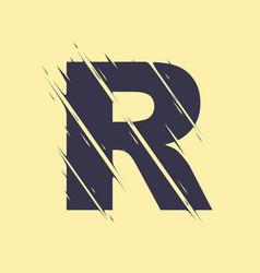 scribbled letter r vector image