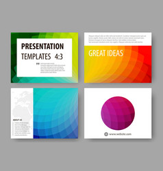 Set of business templates for presentation slides vector